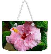 Pink Hibiscus Flower 1 Weekender Tote Bag