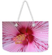 Pink Hibiscus Macro Weekender Tote Bag