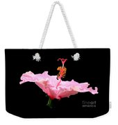 Pink Hibiscus With Curlicue Effect Weekender Tote Bag