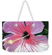 Pink Hibiscus With Raindrops Weekender Tote Bag