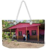 Pink House In Costa Rica Weekender Tote Bag