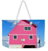 Pink House On The Beach 3 Weekender Tote Bag