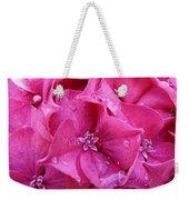Pink Hydrangea After Rain Weekender Tote Bag