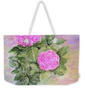 Pink Hydrangeas And Hostas Weekender Tote Bag