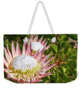 Pink King Protea Flowers Weekender Tote Bag