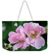 Pink Knockout Rose After The Rain Weekender Tote Bag