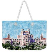 Pink Lady Don Cesar Watercolor Weekender Tote Bag