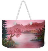 Pink Lake Weekender Tote Bag
