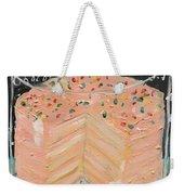 Pink Layer Cake Weekender Tote Bag