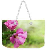 Pink Light Rose Of Sharon 2016 Weekender Tote Bag