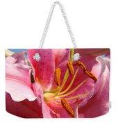 Pink Lilies Art Prints Lily Flowers 3 Giclee Artwork Baslee Troutman  Weekender Tote Bag