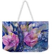 Pink Lilies In Vase Weekender Tote Bag