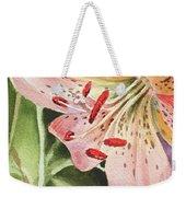 Pink Lily Close Up Weekender Tote Bag