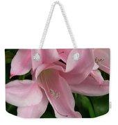 Pink Lily Flowers Weekender Tote Bag