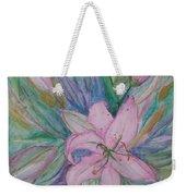 Pink Lily- Painting Weekender Tote Bag