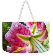 Pink Lily Summer Botanical Garden Art Prints Baslee Troutman Weekender Tote Bag