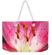 Pink Lily Weekender Tote Bag