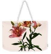 Pink Lily Trio Weekender Tote Bag