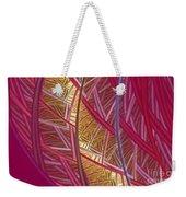Pink Lines Weekender Tote Bag