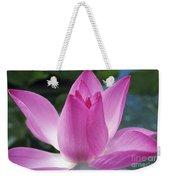 Pink Lotus Weekender Tote Bag
