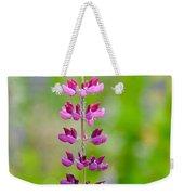 Pink Lupine Weekender Tote Bag