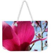 Pink Magnolia Flowers Magnolia Tree Spring Art Weekender Tote Bag