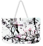 Pink Magnolia - In Black And White  Weekender Tote Bag