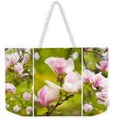 Pink Magnolia Triptych Weekender Tote Bag