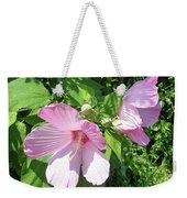 Pink Marsh Mallow Wildflower Weekender Tote Bag