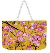 Pink Mimosa Tree Dark Yellow 201642 Weekender Tote Bag