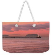 Pink Morning In The Bay Of Thunder Weekender Tote Bag