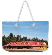Pink Mountain British Columbia Weekender Tote Bag