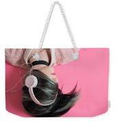 Pink Music Time Weekender Tote Bag