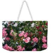 Pink Oleanders Weekender Tote Bag