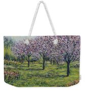 Pink Orchards Garden Weekender Tote Bag