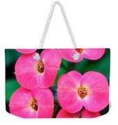 Pink Orchid Crown Of Thorns Weekender Tote Bag
