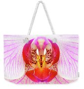 Pink Orchid Weekender Tote Bag by Dave Bowman
