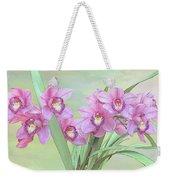 Pink Orchid Photo Sketch Weekender Tote Bag