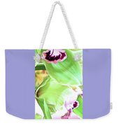 Pink Orchid With Green 1 Weekender Tote Bag
