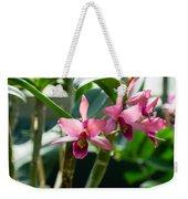 Pink Orchids - Exotic Tropical Glow Weekender Tote Bag