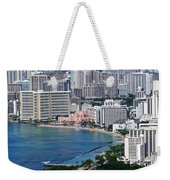 Pink Palace Waikiki Honolulu Weekender Tote Bag