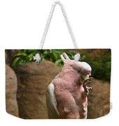 Pink Parrot Nibbling Foot 2 Weekender Tote Bag