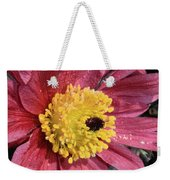 Pink Pasque Flower Weekender Tote Bag