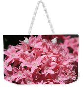 Pink Pentas Beauties Weekender Tote Bag