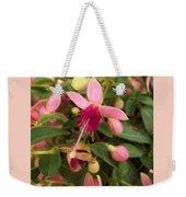 Pink Petalled Fuchsia Blooms              May         Indiana Weekender Tote Bag