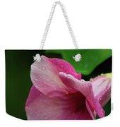 Pink Petals In The Rain Weekender Tote Bag