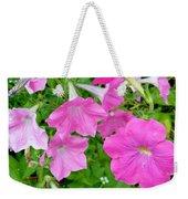 Pink Petunia Flower 11 Weekender Tote Bag