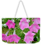 Pink Petunia Flower 9 Weekender Tote Bag