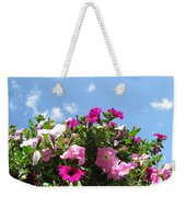 Pink Petunias In The Sky Weekender Tote Bag