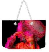 Pink Pixelated Princess Weekender Tote Bag